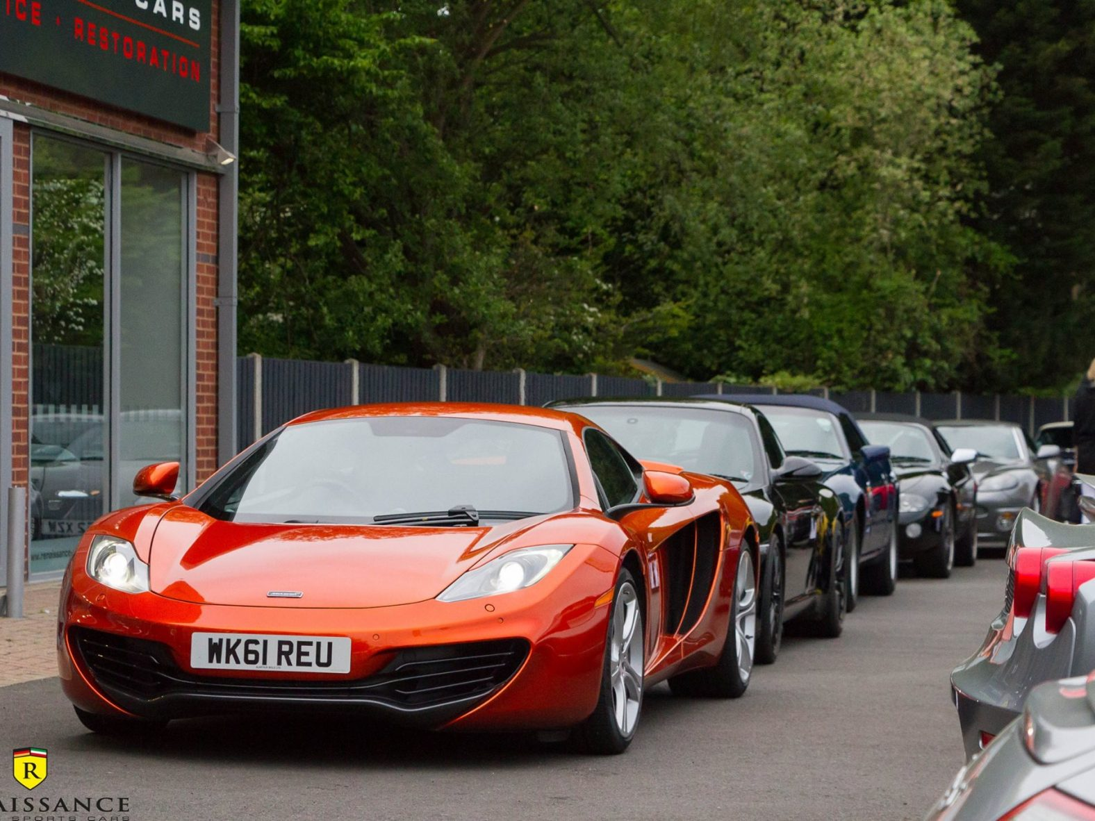 CARS GATHERED TODAY AT HQ FOR THE BRAKE FAST CLUB